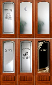 Mahogany Interior Arched Glass Doors - French Doors