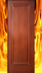 1 panel Fire Rated Mahogany Doors