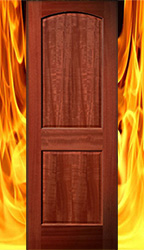 2 panel mahogany fire rated doors