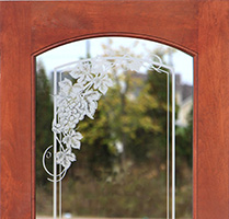 Etched Glass interior doors with grapevine theme