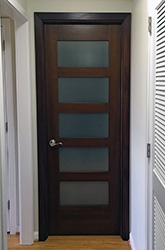 mahogany interior shaker door frosted glass  NY condo replacement