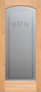 Bath Etched Glass Door