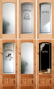 knotty alder etched glass interior doors