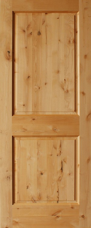 Knotty Alder 2 Panel Interior Doors Square Panels