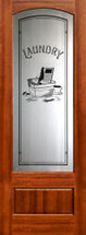 "801 8'0"" interior etched glass door Laundry door"