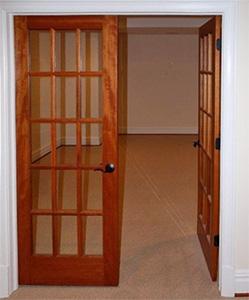 Interior french doors mahogany for Small double french doors
