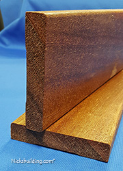 Mahogany interior flat casing square profile