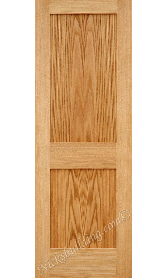 oak 2 panel shaker doors  sc 1 st  Nick\u0027s Building Supply & Oak Shaker Doors