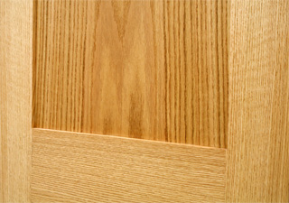 Oak Shaker doors 2 Panel closeup photo