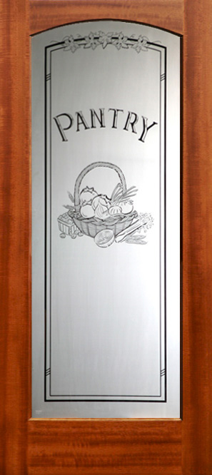 ... Etched Glass Interior Door With Pantry Glass ...