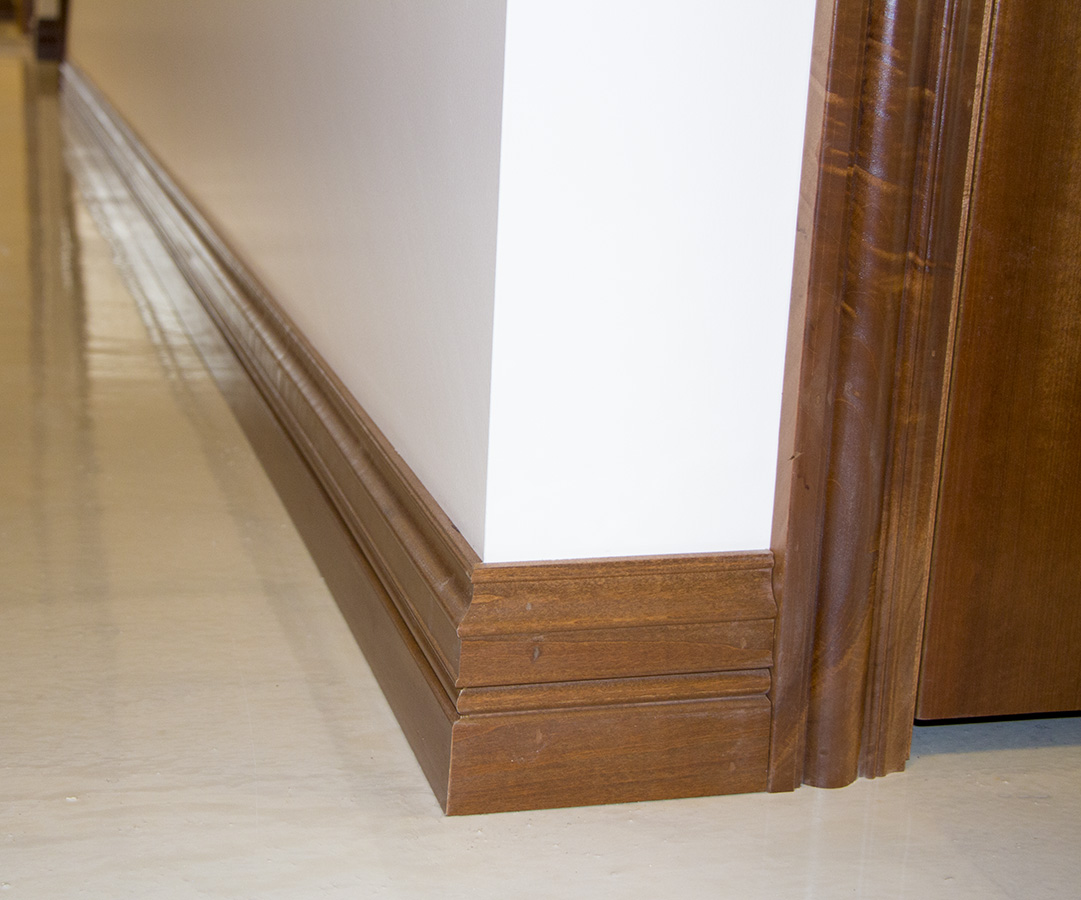 Poplar Casing And Baseboard Installation