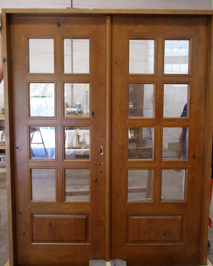 rustic interior french doors 8-lite knotty alder & Rustic French Doors