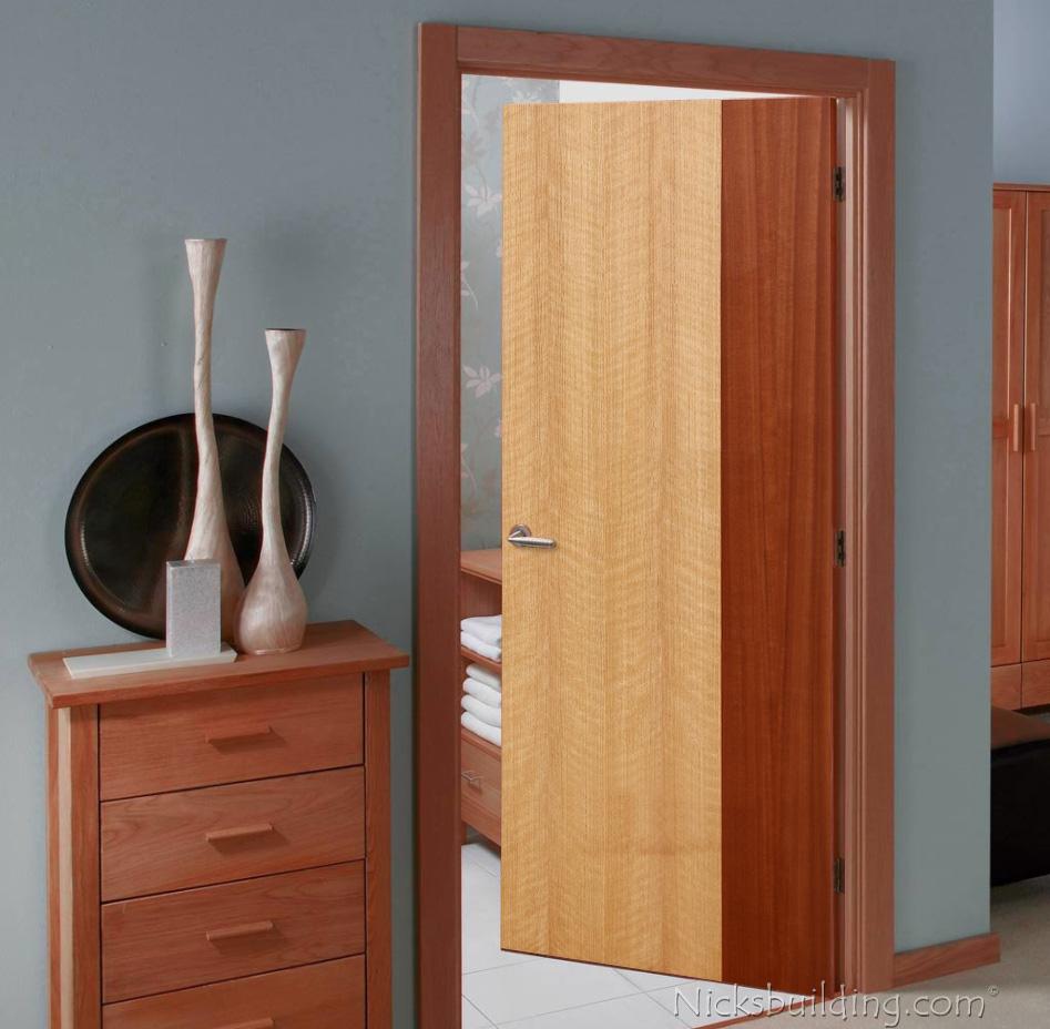 modern wood interior doors. Modern Interior Flush Doors Maple And Mahogany Wood