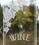 Wine doors glass