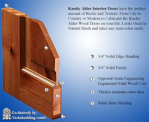 alder interior door corner sample