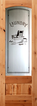 etched glass interior doors with laundry glass
