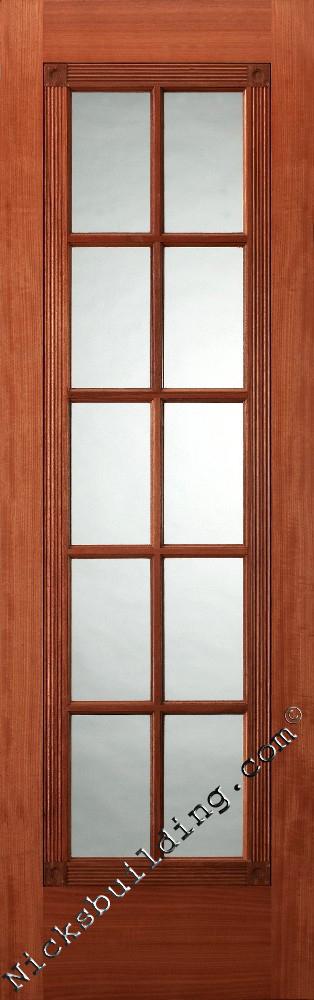 Solid wood interior doors mahogany 4 panel design - Solid wood french doors interior ...
