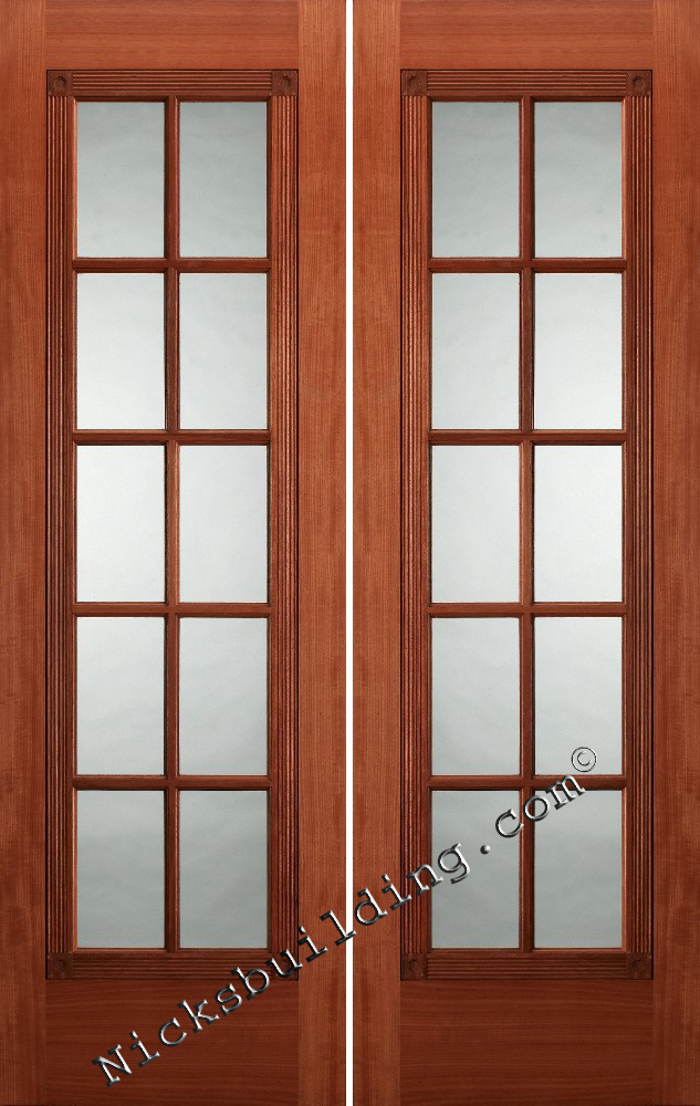 Interior french doors mahogany interior doors for Interior double doors