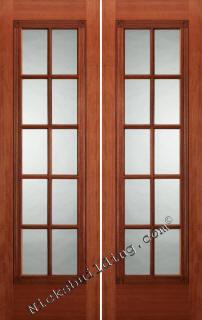 Interior french doors mahogany interior doors for Small double french doors