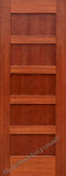 Hardwood interior doors