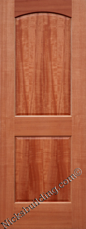Interior wood doors solid mahogany 2 panel doors - Prefinished mahogany interior doors ...
