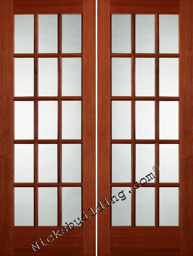 French doors oak and mahogany for Interior french doors