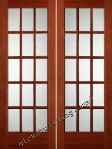French doors oak and mahogany for Small double french doors