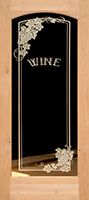 801 etched glass wine room door