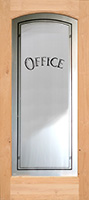 801 etched glass full lite interior arched office door