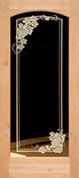 801 knotty alder etched glass grape leaves door