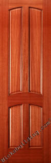 4 Panel Mahogany Interior Doors