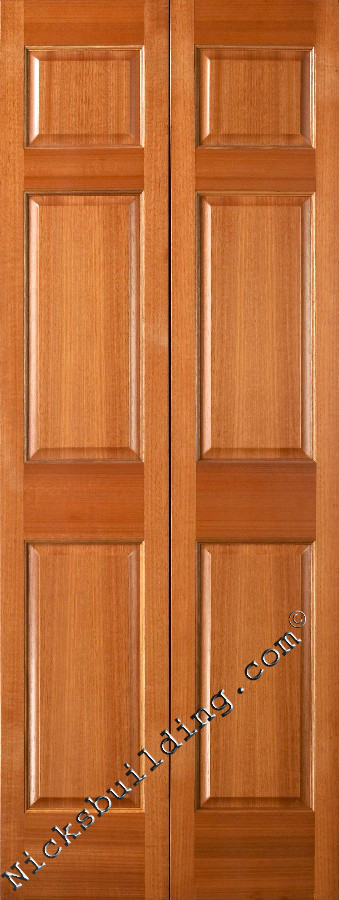 Bifold Interior Doors Mahogany 6 Panel