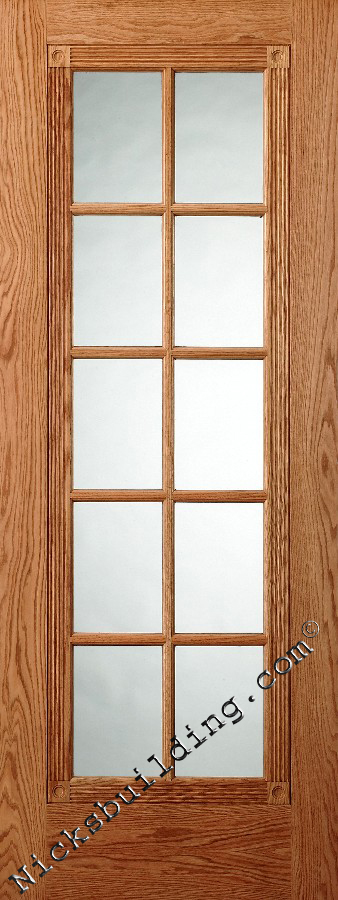 10 Lite Oak Interior French Doors Only $389 Each Pre Hung. Victorian Style  Doors With Fluting And Rosettes. Clear Tempered Glass Doors