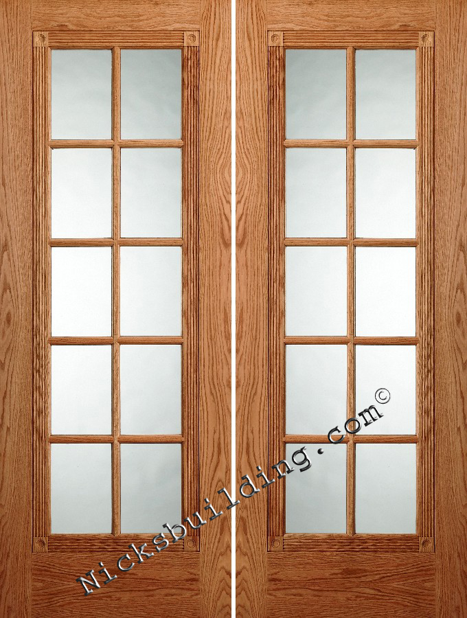 Oak interior doors for Prehung french doors