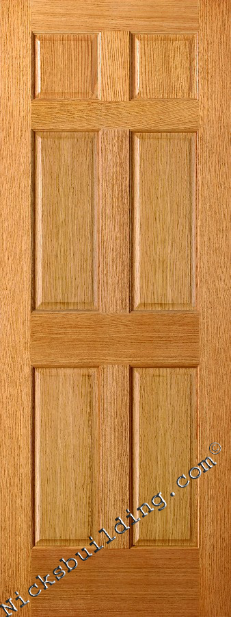 Gentil Six Panel Oak Doors