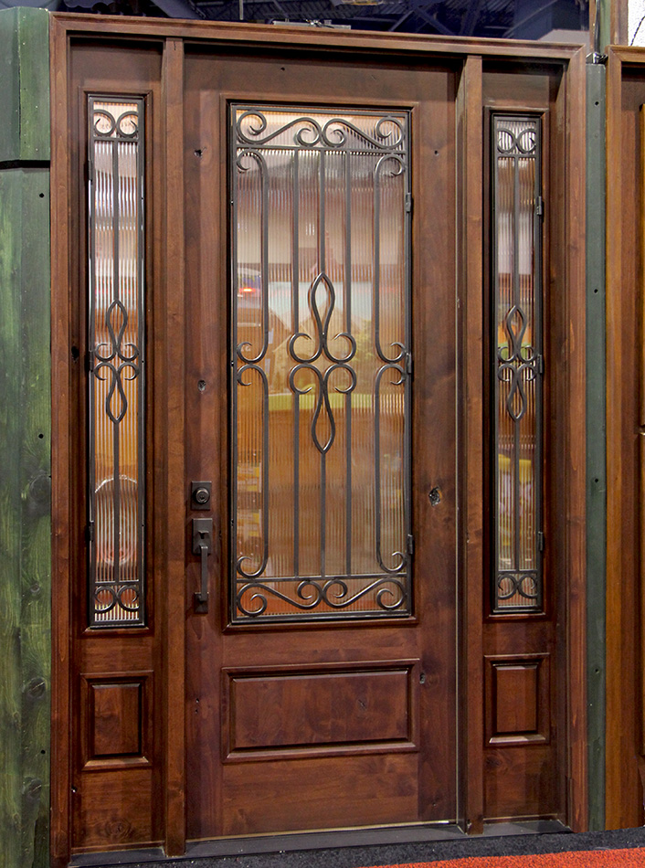8u0027 exterior door with sidelights and iron door grills & IRON DOORS pezcame.com