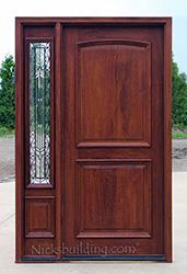 N 2 Panel Door With N 75 Sidelite Iron Classic Glass