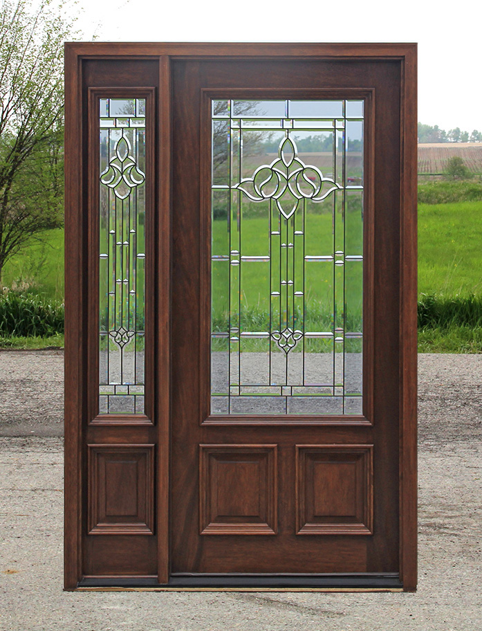 Exterior entry doors with 1 sidelight solid mahogany entry doors for Exterior door with one sidelight