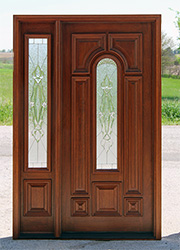 525 door with 75 sidelight Sierra Glass & Exterior Entry Doors with 1 Sidelight - Solid Mahogany Entry Doors pezcame.com