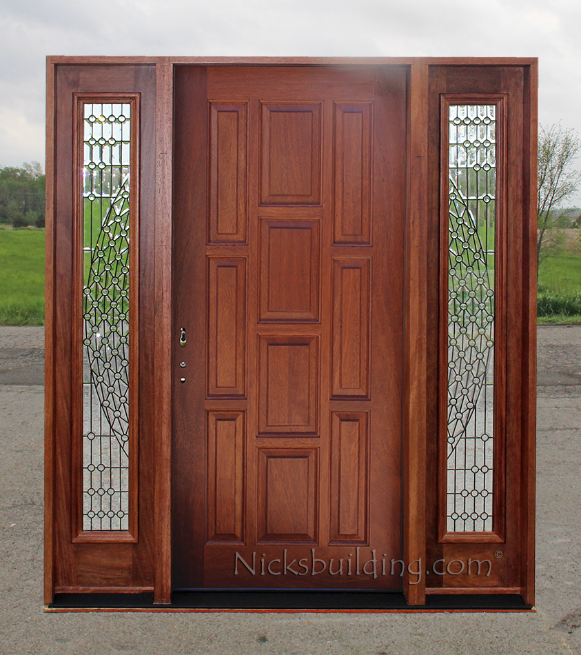 Entry door with sidelights modern entry doors with for Front entry doors with sidelights