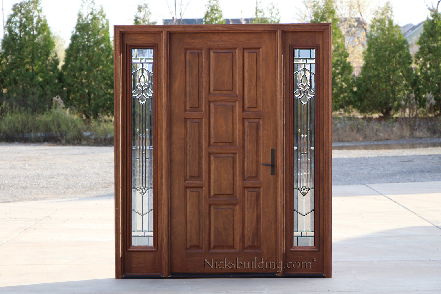 1026 #6D4232 Exterior Doors With Sidelights Solid Mahogany Entry Doors picture/photo Entry Doors With Sidelights 41991537