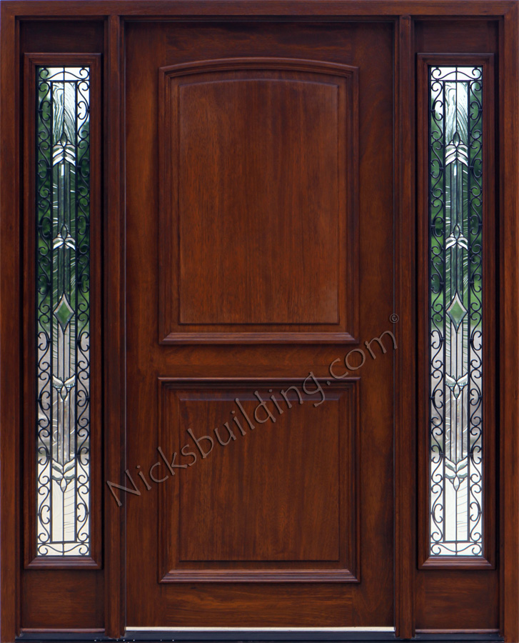 Mahogany Front Door Mahogany Front Door Exterior Doors With Sidelights Solid Mahogany Entry