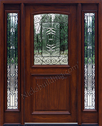 Merveilleux All Iron Classic Glass, 2 Panel Mahogany Door With Iron Classic Glass
