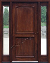 Builder Glass Zinc Came Exterior 2 Panel Doors with Sidelights Clear Beveled Glass & Exterior Doors with Sidelights - Solid Mahogany Entry Doors Pezcame.Com