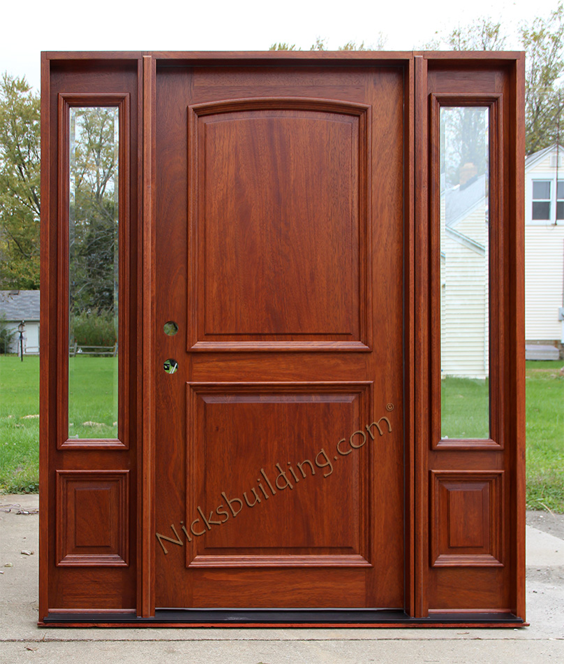 Entry Doors With Side Lights : Exterior doors with sidelights solid mahogany entry