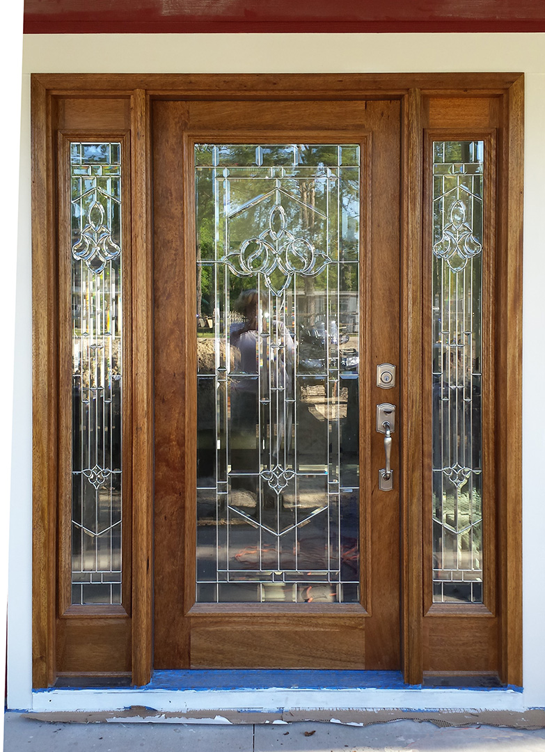 Exterior doors with sidelights solid mahogany entry doors for Full glass exterior door