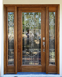 Reeded Glass, Full Lite Door With Majestic Glass Zinc Caming