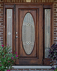 exterior front door with oval glass & Exterior Doors with Sidelights - Solid Mahogany Entry Doors