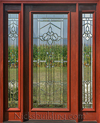 Exterior doors with sidelights solid mahogany entry doors 8 n250 full lite door with majestic glass planetlyrics Gallery