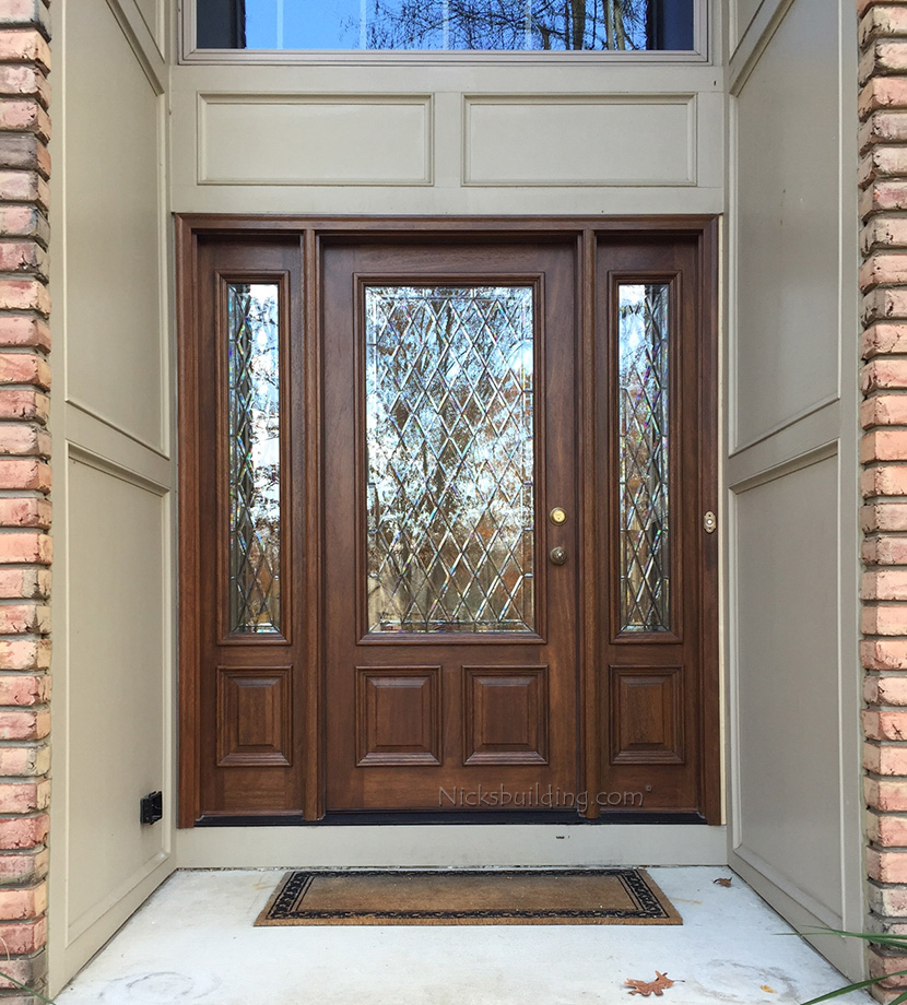 Glass Entry Doors With Side Lights : Exterior doors with sidelights solid mahogany entry
